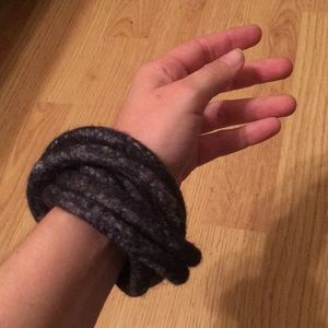 Jewelry - Hand made boiled wool navy bracelet